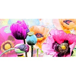 quadro floreale papaveri